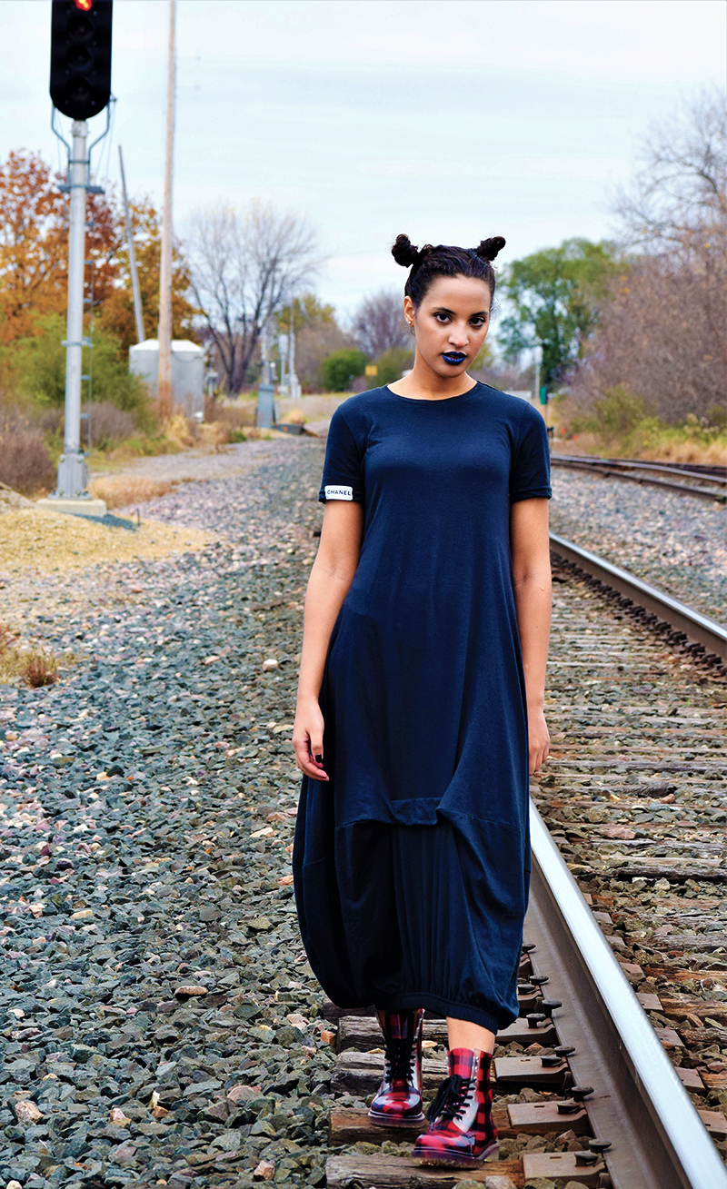 Cozy Couture Chanel Dress, Photo 4. Photo Credit: Mechelle Avey. Introvert Life: Cozy Couture Look 3. Alwaysuttori.com