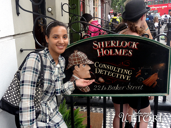 Always Uttori at Sherlock Holmes Museum, London. Photo Credit: Mechelle Avey. London Calling: 3 days in London, Always Uttori Travel Diaries