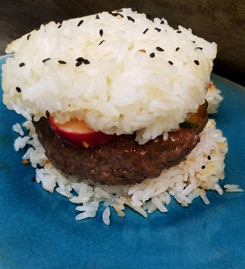 Kimbap Burgers. Photo Credit: I'mari Avey. Always Uttori Food makes Kimbap Burgers