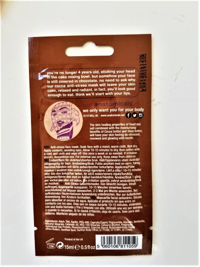 Mask Back. Photo Credit: Always Uttori. Buy or DIY: Chocolate Face Mask. Alwaysuttori.com