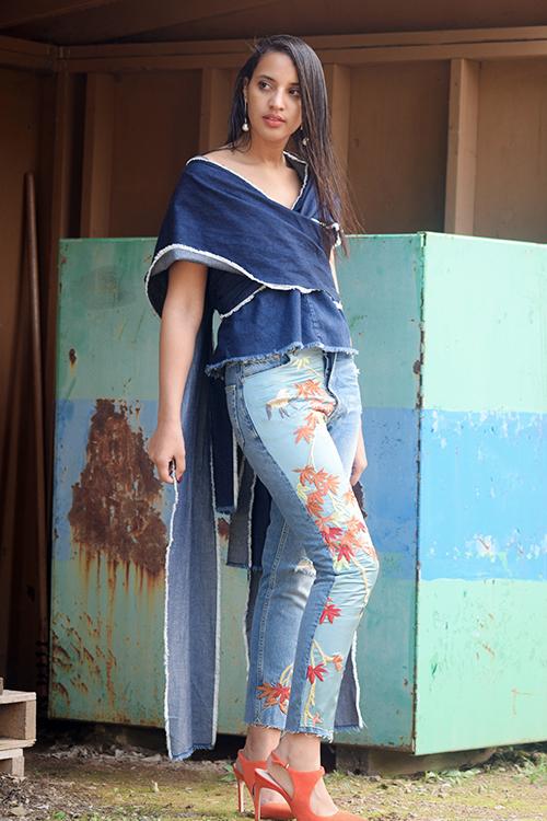 Zara Flower Jeans. Photo Credit: Always Uttori. Uttori Fashion: 3 Hip Jeans to Rock This Summer, Always Uttori.com.
