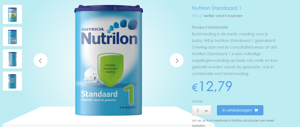 Nutrilon 1 Standaard prijs