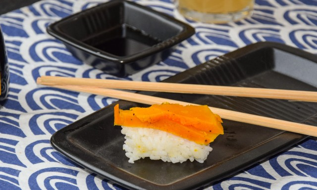 kabocha pompoen sushi