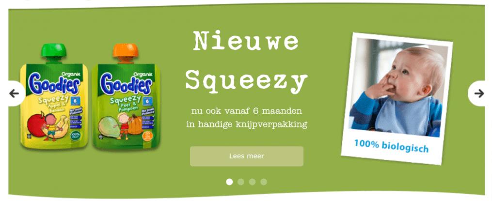 squeezies banner organix goodies