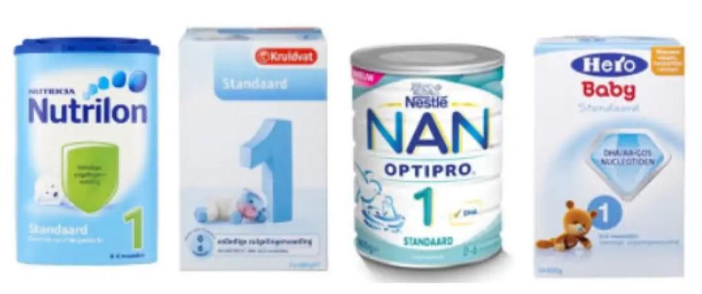 4 merken flesvoeding 1