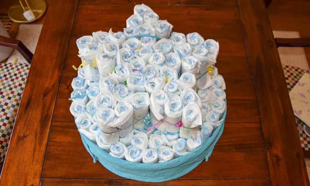 luiertaart diaper cake 10 star