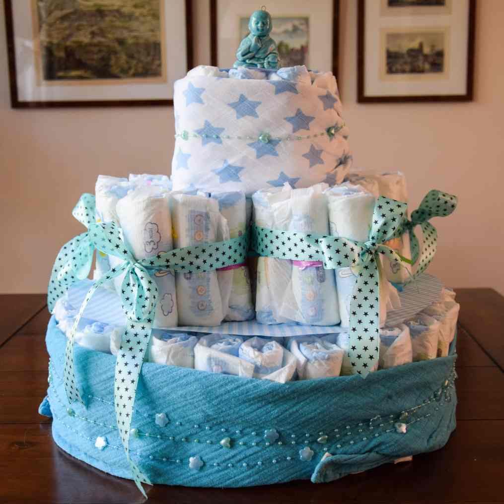 luiertaart diaper cake 13 star