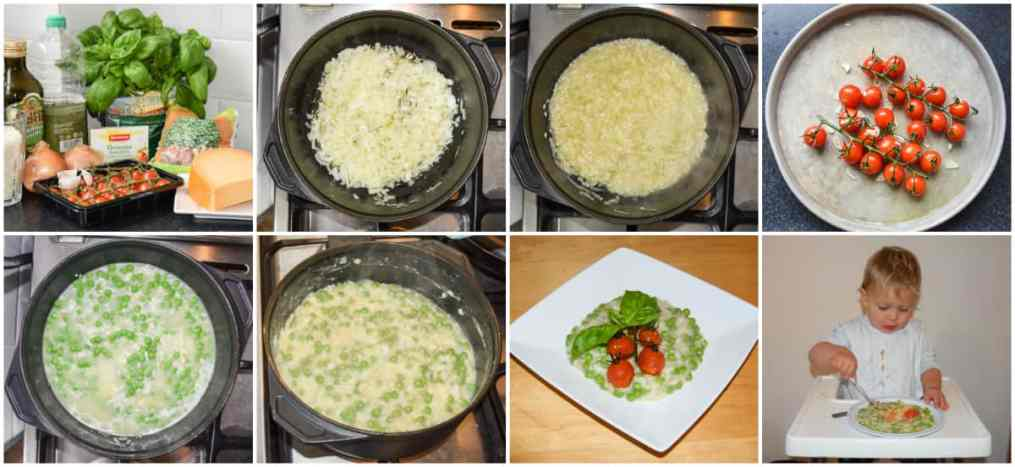 risotto-tomaat-erwt-collage