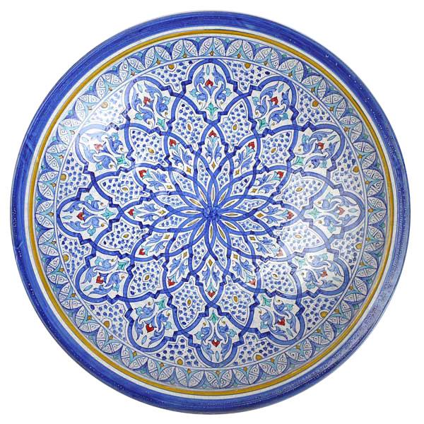 Plate zebca azul decoration Garnata
