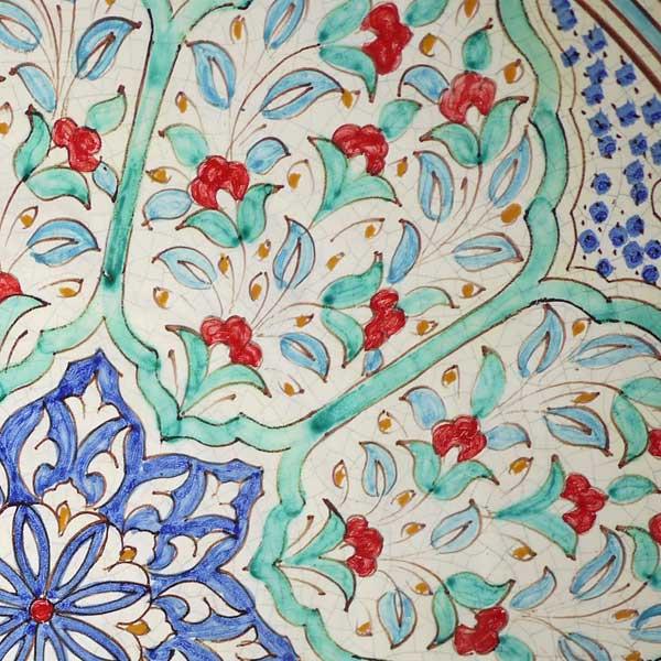 Detalle plato ceramica andalusi