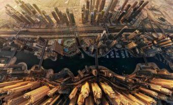 DUBAİ – Marina Bay'ın kuşbakışı görünümü