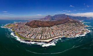 GÜNEY AFRİKA – Capetown'un kuşbakışı görünümü