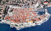 HIRVATİSTAN – Dubrovnik'in kuşbakışı görünümü