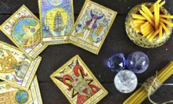 5 Ways to Connect with the Tarot for Personal Development tarot cards and crystals and smudge sticks