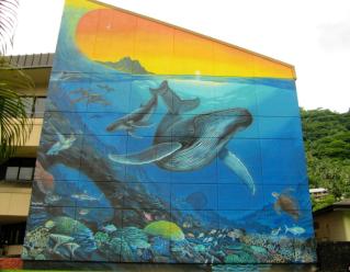 Building Mural of Ocean scene- American Samoa (Image  Copyright Daniel Freeman 2011)