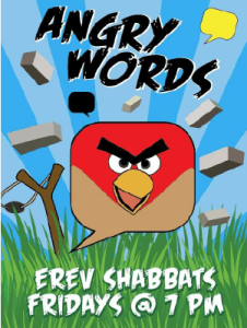 Angry Words poster for Beth Hallel kids ministry