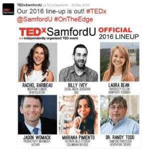 TEDxSamfordU 2016 Lineup