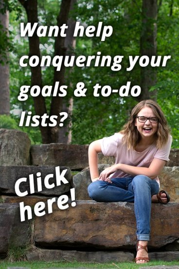 conquer your to do list and achieve your goals with personalize 1:1 help from life coach Aly Hathcock