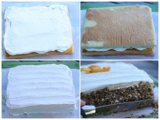 frosting peach cake