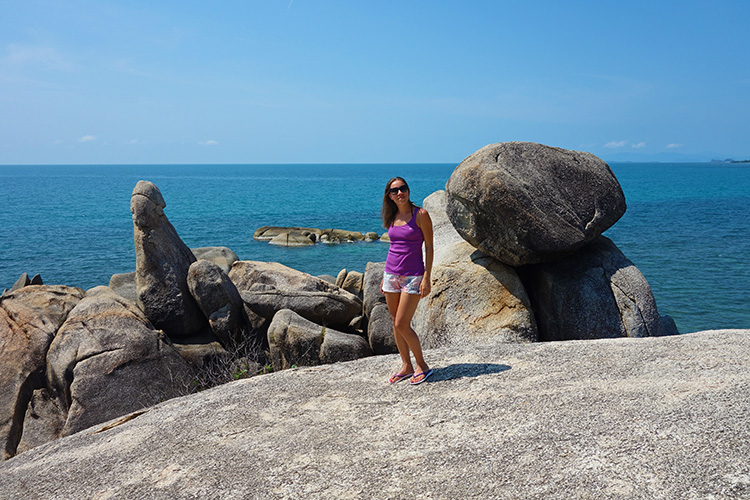 Me near the Grandfather Rock Lamai Koh Samui