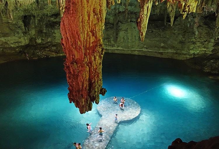 Cenote Suytun underground