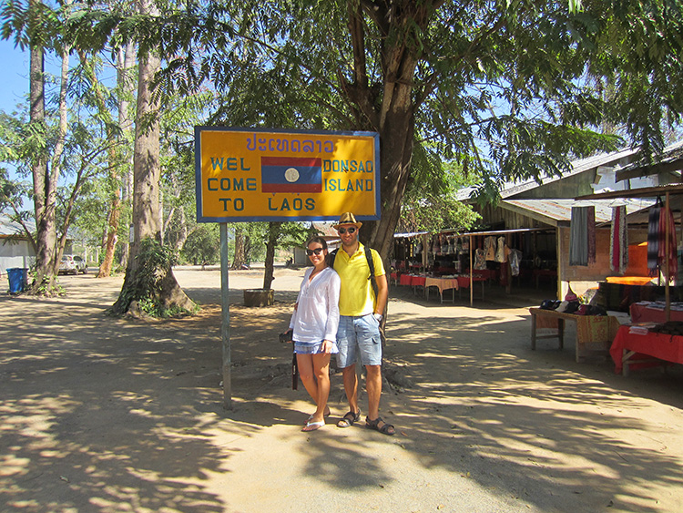 Me and Jean in Laos Donsao Island