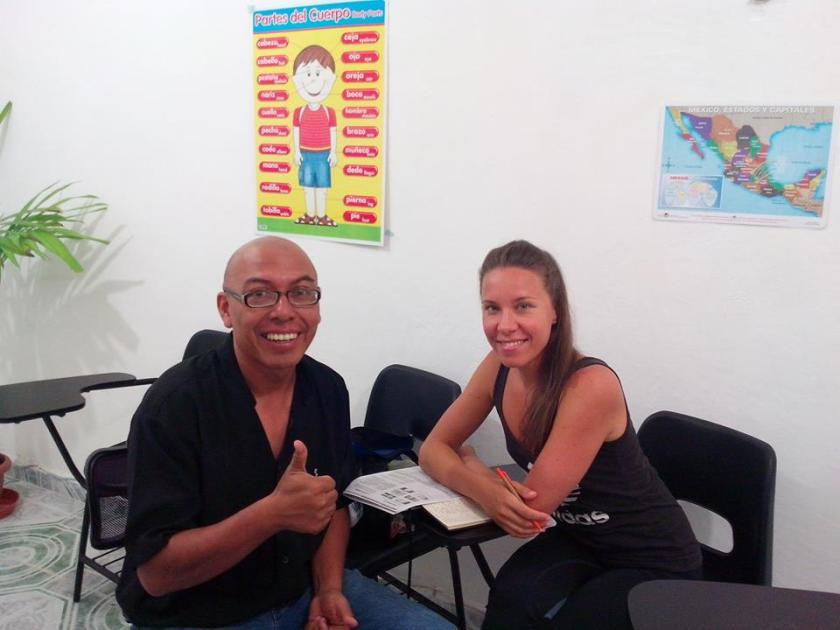 Studying Spanish at the Language School Chichen Itza en Playa del Carmen