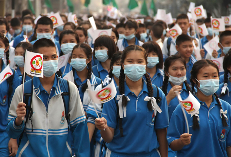 Students Protest Agains Pollution in Chiang Mai