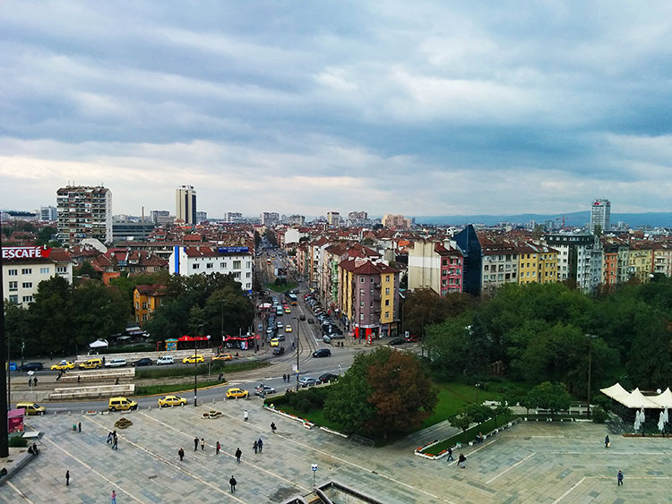 The view from NDK in Sofia