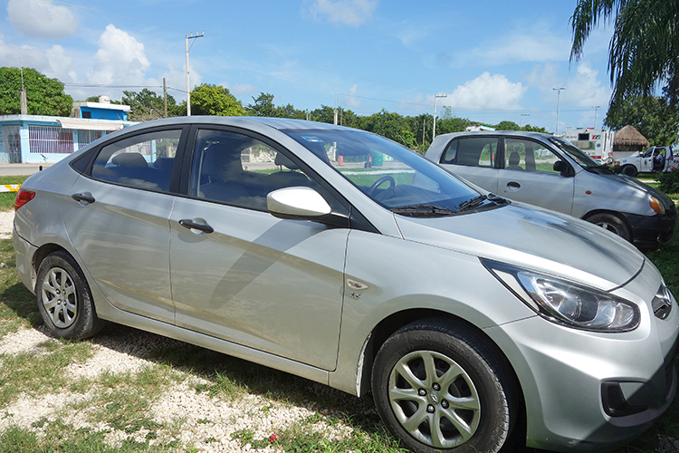 The Car We Rented from Hertz Playa del Carmen