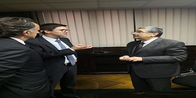 وزير الكهرباء يلتقى بوفد بنك التعمير الألمانى