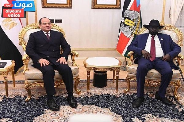 الرئيس السيسي يعقد مباحثات في جوبا مع رئيس جنوب السودان