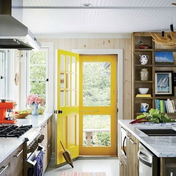 Paint-Your-Doors-In-A-Welcoming-Yellow-2 Decorating With Yellow: How To Brighten Your Space With Yellow