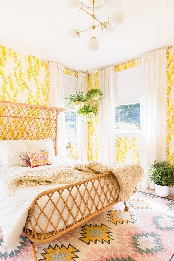 Sunny-Guest-Bedroom Decorating With Yellow: How To Brighten Your Space With Yellow