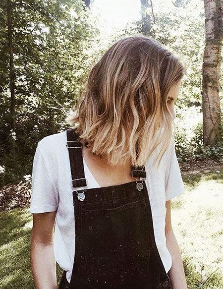 Hair-Color-Ideas-for-Short-Hair-002-ohfree.net_ Popular Balayage Hair Color Ideas for Short Hair