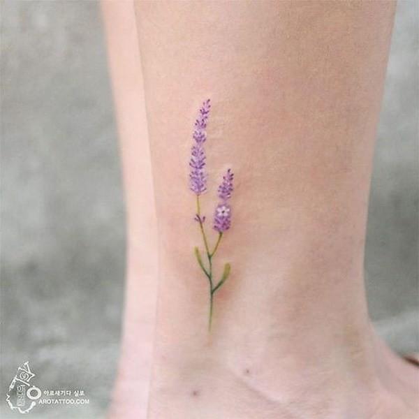 Lavender-Flower-Tattoo Pretty Flower Tattoo Ideas