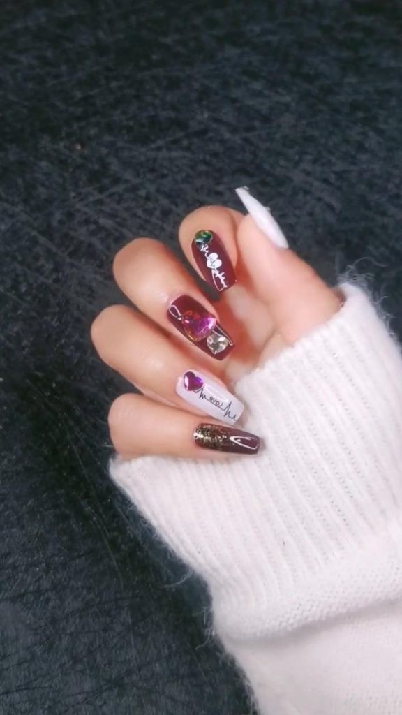 Rhinestone-Nail-Art-Ideas-9 2020 Nail Trends to Inspire Your Next Manicure #1 -  DIY Nails Compilation