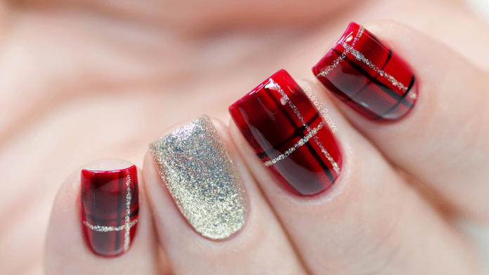Plaids-Nail-Art 10 Acrylic Nail Designs For You To Impress Everyone