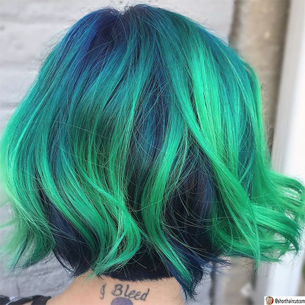 back-view-of-undercut-hairstyle-1 20 Short and Green Hairstyles You Will Want to Copy