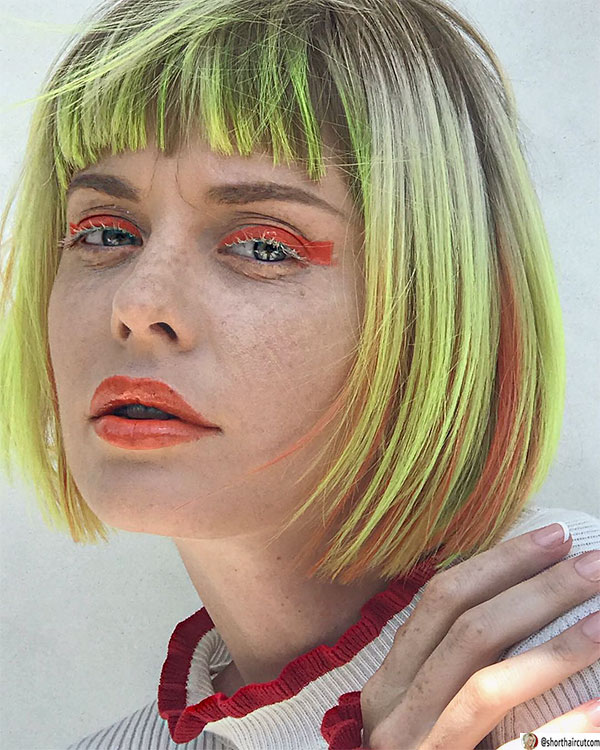blunt-haircut-for-small-face-1 20 Short and Green Hairstyles You Will Want to Copy