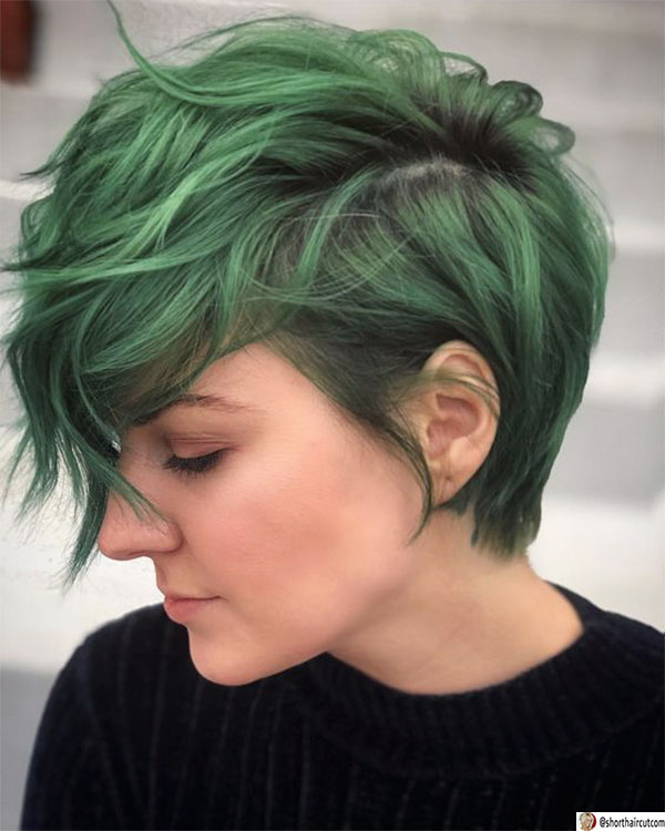 pixie-cut-with-layers-1 20 Short and Green Hairstyles You Will Want to Copy