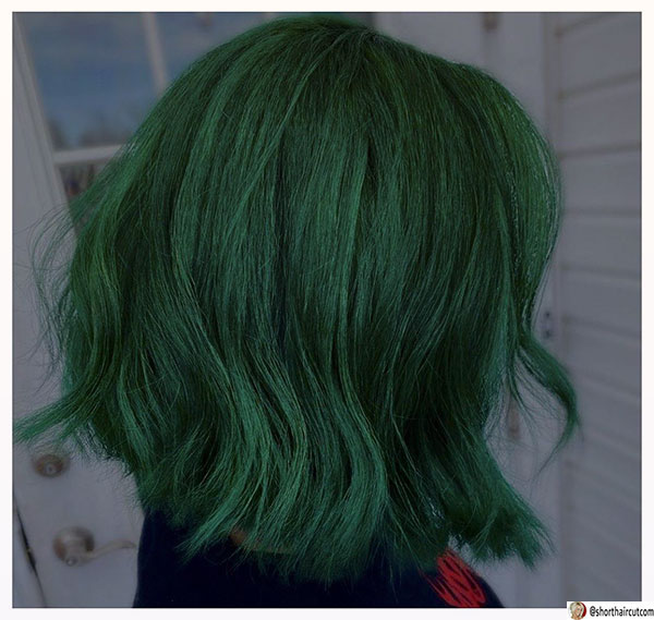 short-and-green-hairstyles-7-1 20 Short and Green Hairstyles You Will Want to Copy