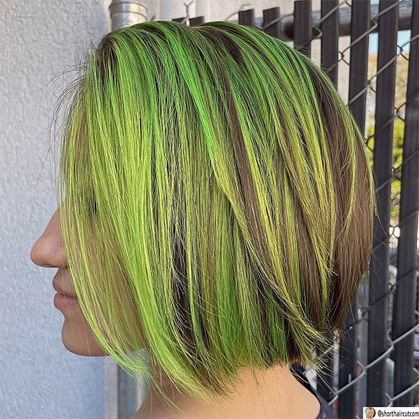 short-and-green-hairstyles-8-1 20 Short and Green Hairstyles You Will Want to Copy
