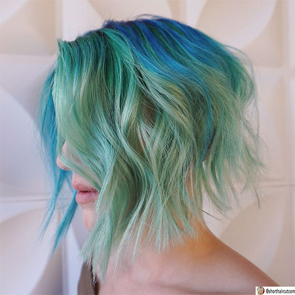 short-and-green-hairstyles-9-1 20 Short and Green Hairstyles You Will Want to Copy