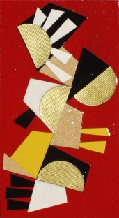 original mixed media collage by Alyson Khan, 7x4 inches SOLD