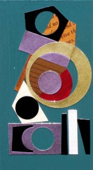 original collage on board, 7 x 4 inches, SOLD
