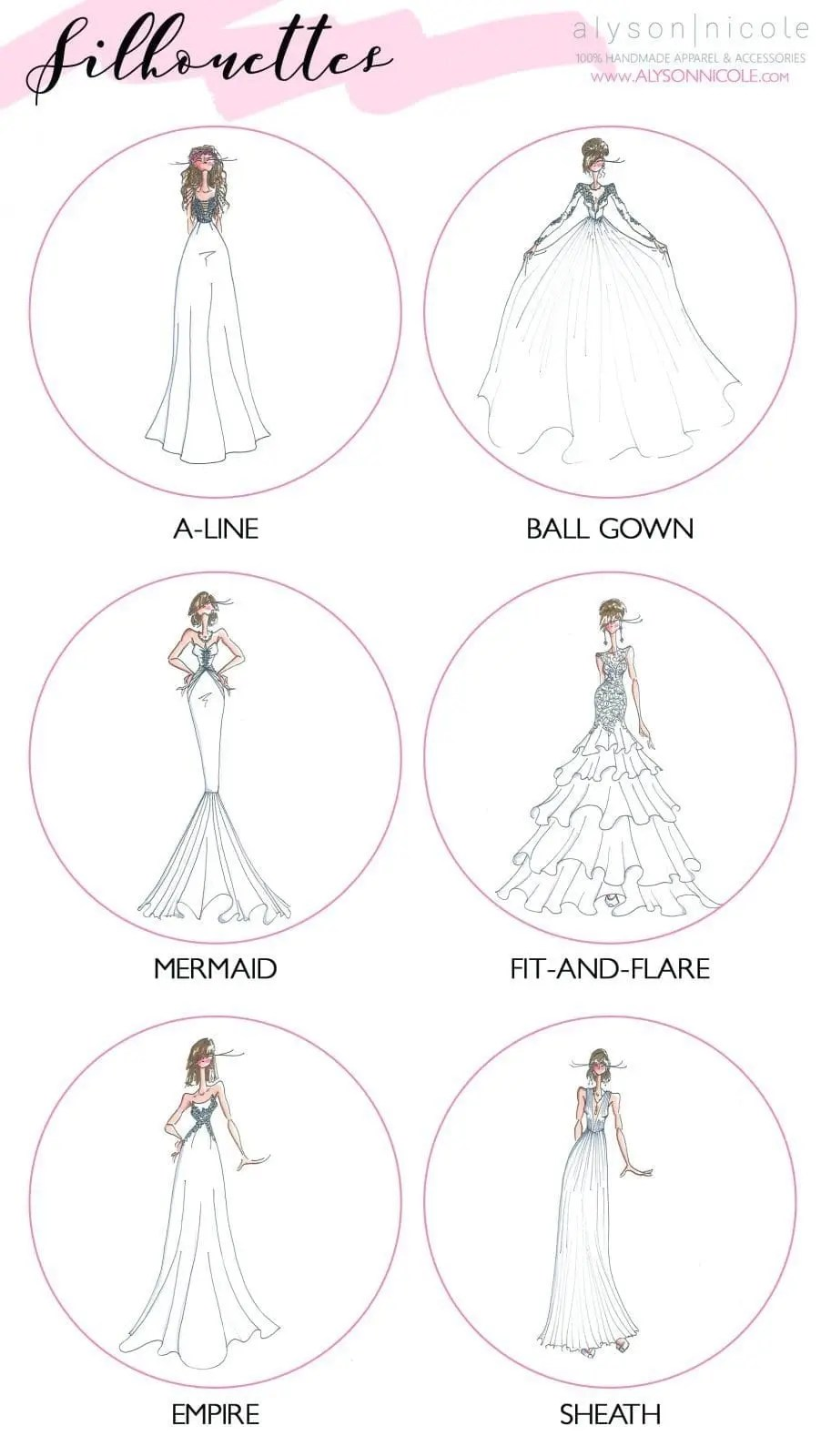 Wedding Dress Silhouette Glossary