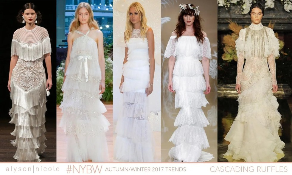 new york bridal week- cascading ruffles