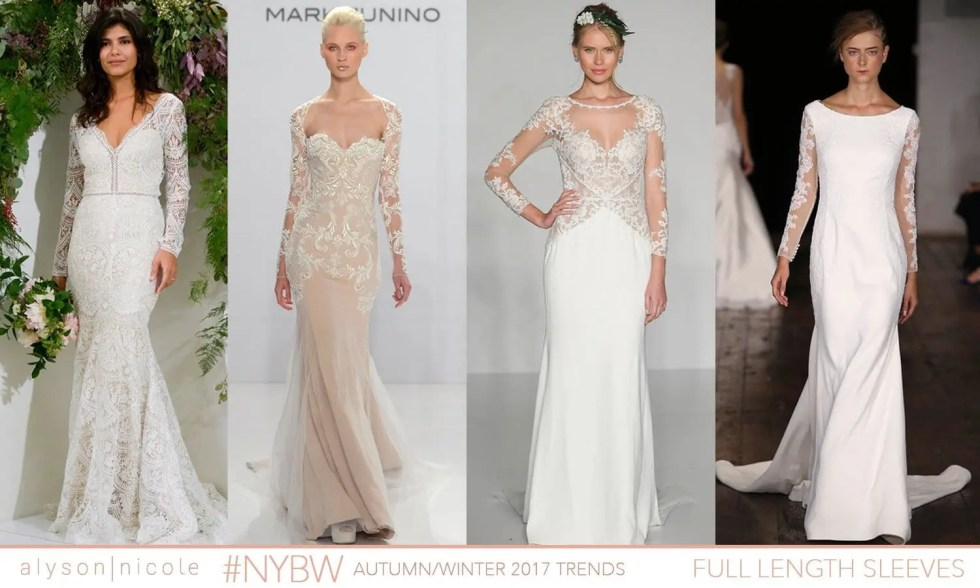 new york bridal week- long sleeves