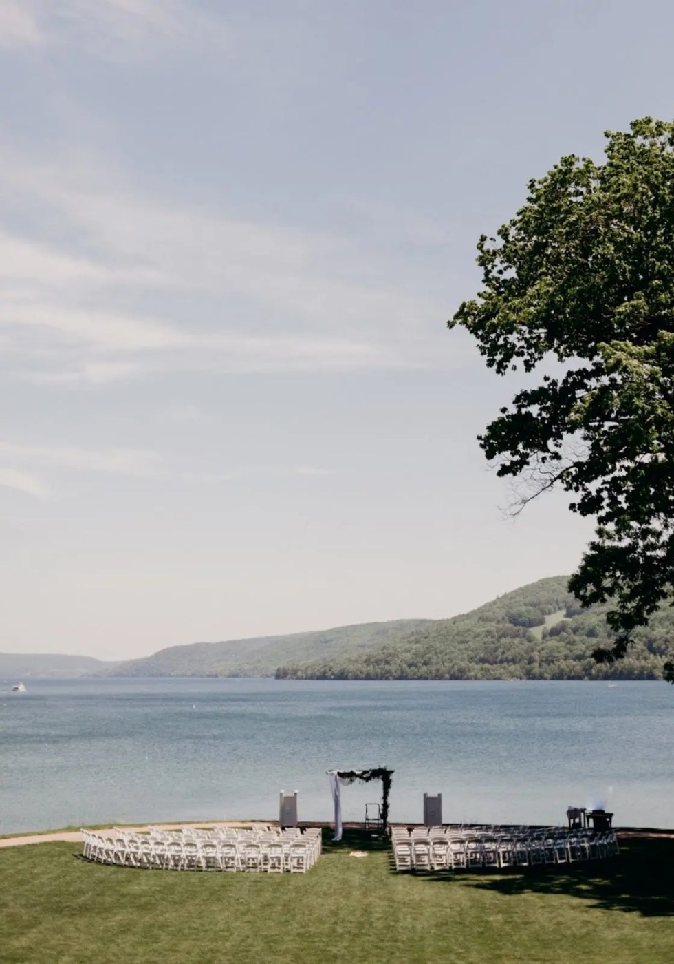 A Sunny, Lakeside Dream Come True Wedding